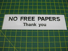 1 NO FREE PAPERS Sticker Contemporary Style
