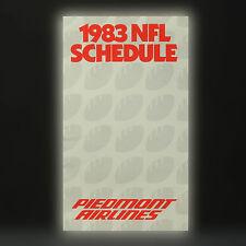 Piedmont Airlines Della compagnia aerea Timetable (tabella orari) 1983 NFL