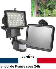 Projecteur LED jardin panneau solaire  detecteur PIR projecteur batterie