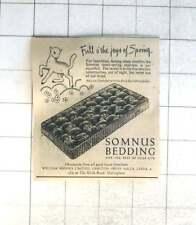 1952 William Rhodes Ltd Carlton Cross Mills, Leeds, Somnus Bedding