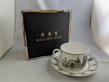 Halcyon Days London Icons Teacup Cup and Saucer Fine Bone China