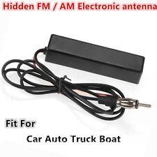 12V noir caché am/fm électronique amplifié antenne radio pour voiture auto bateau