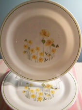 """3 Corelle Yellow Floral Dinner Plates 10 1/4"""""""