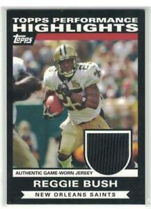 2007 Reggie Bush Topps Performance Highlights Jersey Jsy Relic Saints USC