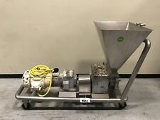 FRISTAM FKL150 PD PUMP W. STAINLESS FEED HOPPER and MOBILE BASE