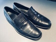 Tod's men's gommino loafers shoes in black calf leather Size US 9.