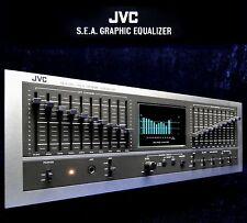 VINTAGE equalizzatore jvc sea-80 STEREO 2x 10 nastro EQ S.E.A. Sound Effect amplifier