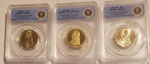 2011 P D S Rutherford Hayes BU & Proof Dollar Set ANACS 67, 67, 70 First Strikes