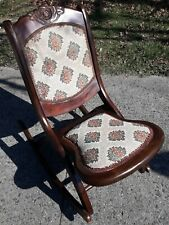 Vintage Wood Folding Rocking Chair americana classic retro deco art design style