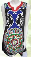 Tunic Top Blue Black Drape Plus Size 10 12 14 16 18 20 EVERSUN Paisley