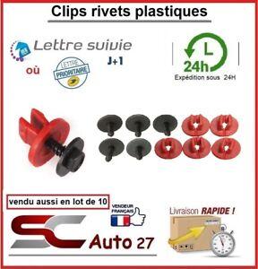 Clips/rivet/agrafe de fixation plastique pour véhicule tablier/jupe/pare boue...