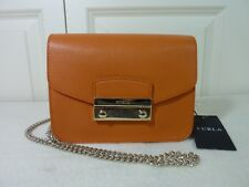 7fdc083a906 FURLA Mandarin Orange Saffiano Leather Julia Mini Crossbody Bag - NEW WITH  TAG