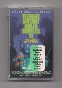 TEENAGE MUTANT NINJA TURTLES II - Original soundtrack SEALED cassette 1991