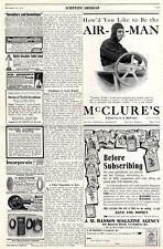Air-Man Mc Clure's & Hanson Magazine us-marcas de publicidad XXL c.1911