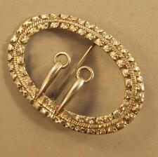 Antique Silver Buckle Pin Marked TC