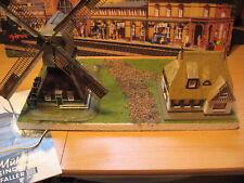 Windmühle+Ostfriesenhaus/2Motor+Licht.Modellbau,Modelleisenbahn,Diorama H0 1:87