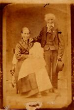 Antique Cowboy Grandparents Cabinet Card from Texas