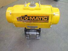EL-O-MATIC ES0200.U1A04A.22K0 PNEUMATIC ACTUATOR SWAGELOK S/S 1-1/2 BALL VALVE