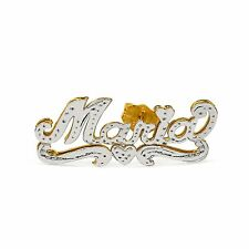 Personalized Sterling Silver and Gold Plated Script Stud Name Earrings Any Name