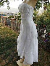 Jessica McClintock White Tulle Cinderella  Wedding Ball Gown High Low hem