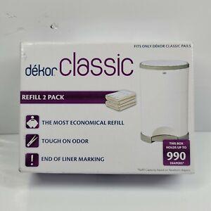 Dekor Classic Diaper Pail Refills | 2 Count | Most Economical Refill System |