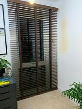Real wood made to measure blinds from dark wood size 120cm x 225cm RRP £270