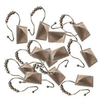 12 Pcs Shower Curtain Hooks Ring for Bathroom Shower Rods Curtains Practical