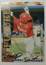 2000 Luis Saturria Royal Rookies Futures signed Autographed #/ed