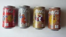 Set of 4 SYDNEY AUSTRALIA 2000 OLYMPIC COCA COLA COKE Empty Cans from SINGAPORE