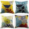 "18"" Vintage Linen Square Soft Throw Flax Pillow Case Decorative Cushion Cover AU"