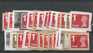 GB 30 Large first class stamps unfranked on paper