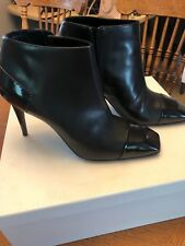 Pierre Hardy leather ankle booties sz 38.5 NIB Black Italy $800 retail