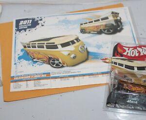 Hot Wheels 2011 Collectors ED Volkswagon TI drag Bus VW V7306 w/Envelope Rare