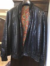 Alligator Zilli Mens Jacket, with 4 fur detachable collars, org $ 120k now 25k