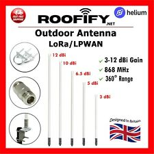 More details for roofify outdoor lora lpwan antenna for helium hotspot mining 3-12 dbi 868 mhz uk