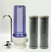 Clear Countertop Drinking water filter system; 2 pcs CTO Carbon filter