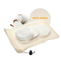12PCS Reusable Makeup Remover Pads Washable Organic Bamboo Cotton Round Tools