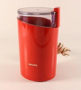 Vintage KRUPS Coffee Spice Grinder 203 FIRE ORANGE Color Culinary Kitchen
