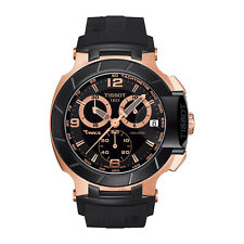 Tissot  T-Race Men's Black and Gold Chronograph Watch T048.417.27.057.06
