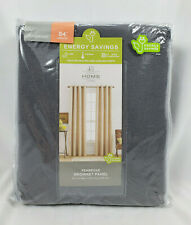 "JCP Home Pembroke Castlerock Gray Thermal Grommet-Top Curtain Panel, 50""x84"""