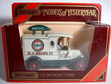 "MATCHBOX Moy y-12c FORD MODEL ""T"" VAN ""HEINZ"" COME NUOVO IN BOX"