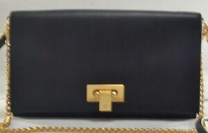 Tory Burch Carmen Black Mini Leather Clutch/crossbody Bag $348.00 #105SW