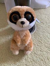 Ty Beanie Boos Rebel 6 inch Brown Meerkat Stuffed Animal