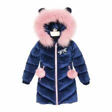 Children Down Winter Jacket Girls Thicken Winter Coat Hooded Velour Outwear Warm
