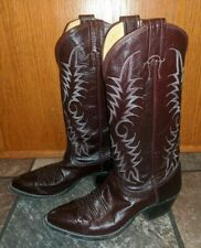 Nocona Leather Rust Red Cowboy Boots Shoes Tall Size 6 B Women's