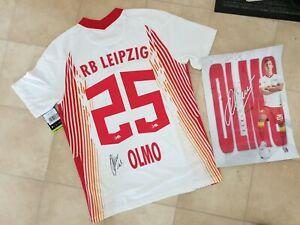 Dani Olmo Trikot RB Leipzig Original Signiert Gr. M NEU OVP Mit Poster