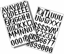 Harry Potter Style font ,Self Adhesive 25mm Black Vinyl Sticky Letters/Numbers,