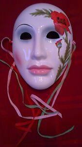 Vintage 1984 Hand Painted Vandor Calladium Ceramic Mask