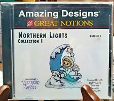 *New* Amazing Designs Machine Embroidery Design Card - Northern Lights