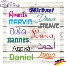 2 x Name / Text AUFKLEBER - 10 cm - Türaufkleber Wandtattoo Familienname Sticker